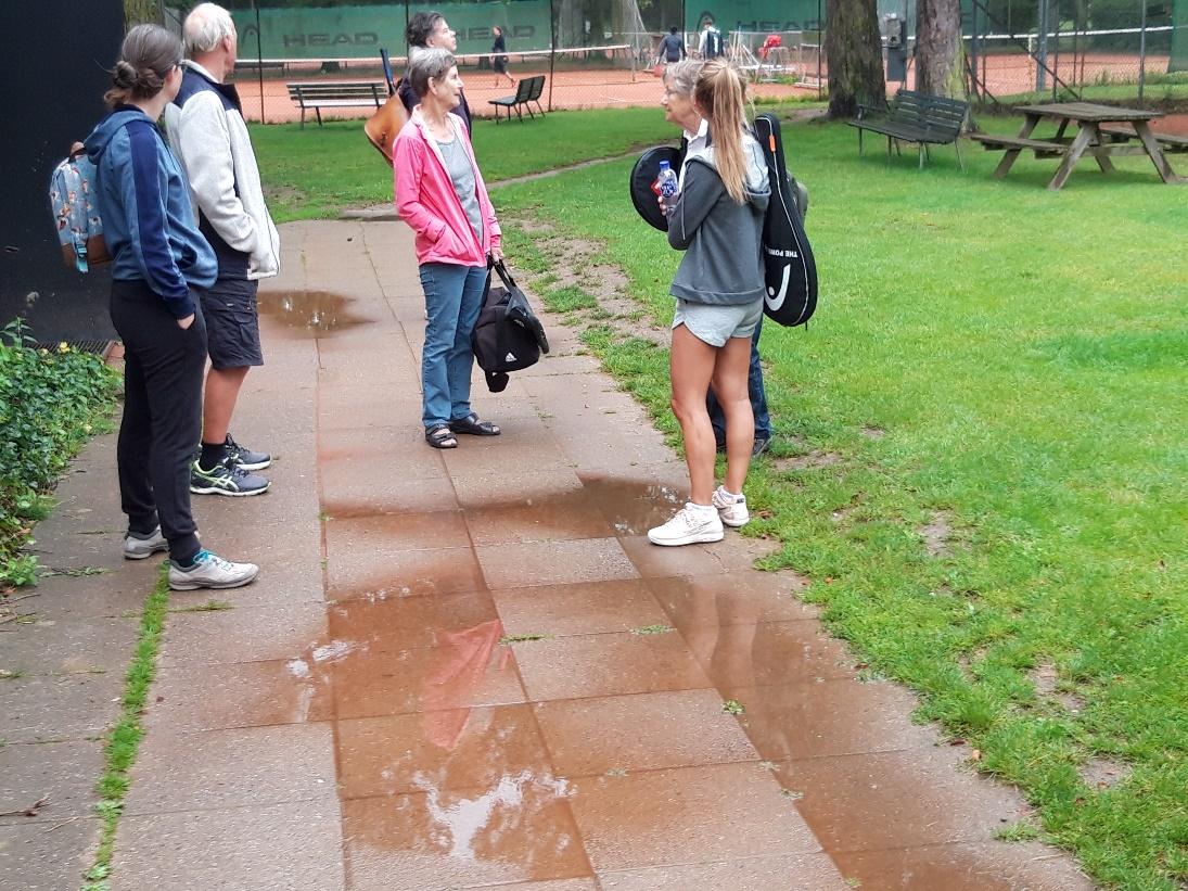Hallen kan bruges i tilfælde af regn