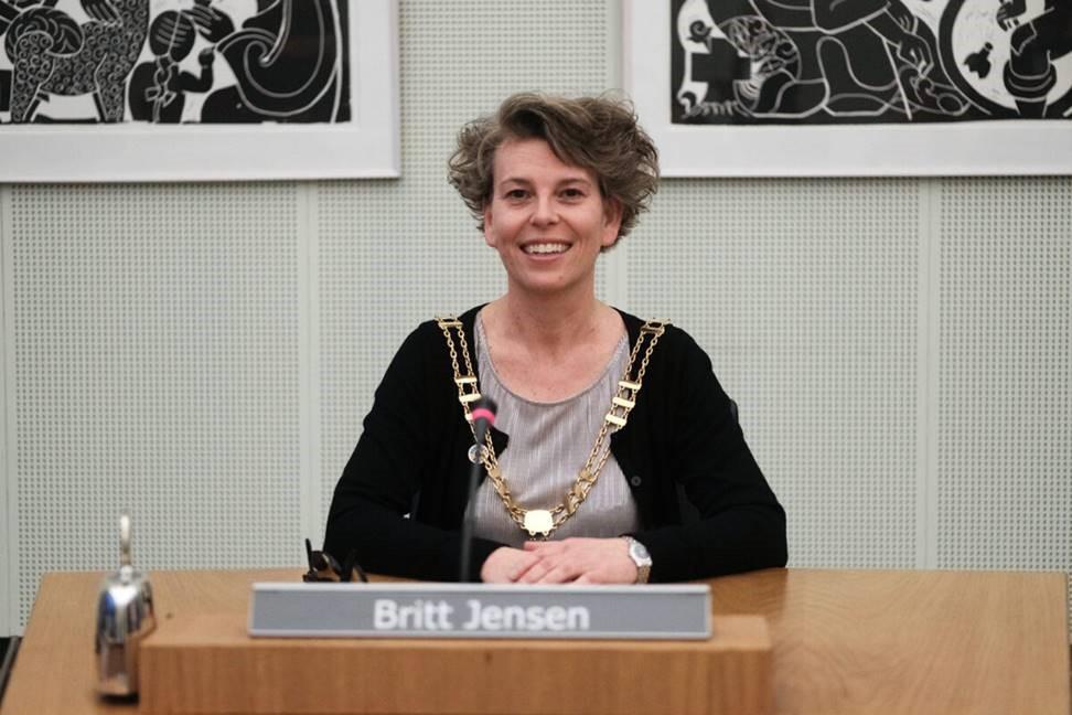 Besøg af borgmester Britt Jensen 24. juni